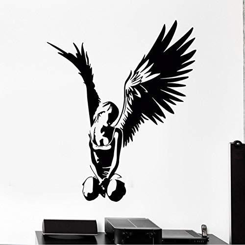 Jixiaosheng Wandaufkleber Vinyl Aufkleber Engel Teen Mit Flügeln Gothic Dekor Für Schlafzimmer50 * 61 Cm