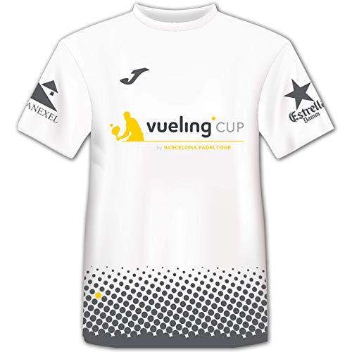 Barcelona Padel Tour Camiseta Manga Corta Técnica Vueling Cup Hombre Blanca XL