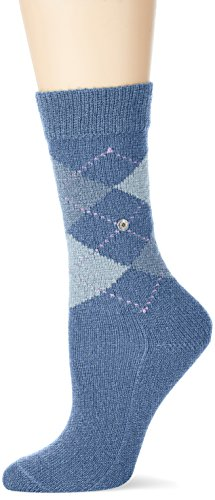 Burlington Damen Socken Whitby, Blau (Blueb.Peel 6220), 36/41