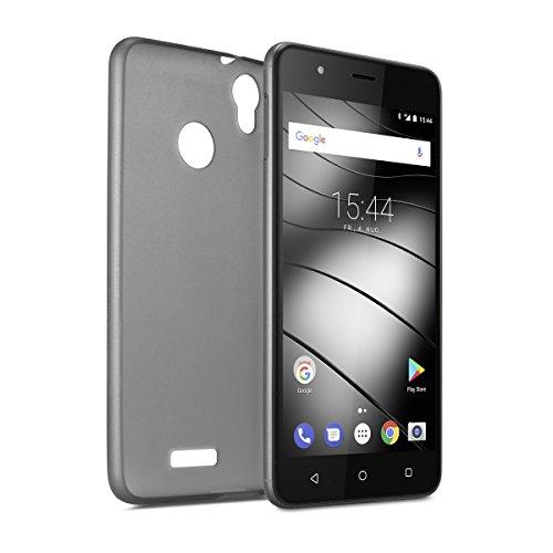 Gigaset Smartphone Hülle - Protective Case - Schutzhülle - anti-scratch - Handy Schutz -Rundum-Schutz Zubehör - Cover Shell - für GS270 / GS270 Plus - grau