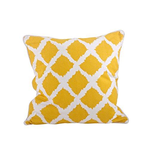 SARO LIFESTYLE 10900Korsika Kollektion Safran Ikat Design Daunen gefüllt Baumwolle Überwurf Kissen (Safran Kollektion)