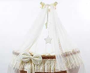 Cheap Bedding Set With Drape For Ophelia Wicker Crib Moses Basket