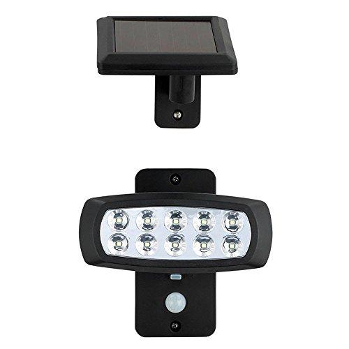LED Solarleuchte Außenleuchte Beleuchtung Bewegungsmelder Lampe schwarz 103117 Solar