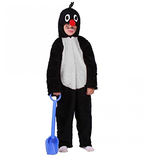 Maulwurf Kostüm - Krause & Sohn Kostüm Maulwurf Gr. 104- 140 Overall Plüsch Tierkostüm Kinderfasching Karneval (140)