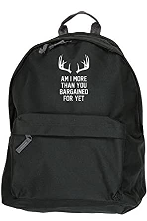 HippoWarehouse AM I MORE THAT YOU BARGAINED FOR YET backpack ruck sack Dimensions: 31 x 42 x 21 cm Capacity: 18 litres
