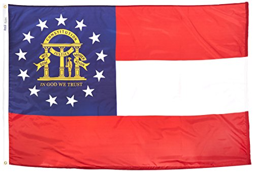 Annin Flagmakers Georgia State Flag 4x6' Nicht zutreffend