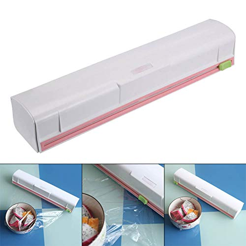 Ambility Food Wrap Dispenser Plastic Cutter Foil Cling Film Storage Holder Box Kitchen Supplies Foil Seal Cutter