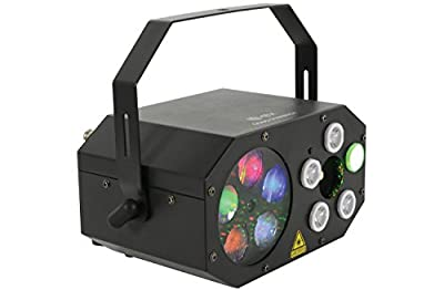 QTX Gobo Starwash 3 in 1 Multi Light Colour Effect w/ Remote DJ Event Party Auto / Sound Activated