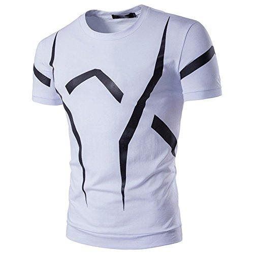 678da05030ad Weant Tshirt Divertente Uomo Manica Corta Polo Abbigliamento Uomo Slim Fit  Tee Bianca Taglie Forti Casual