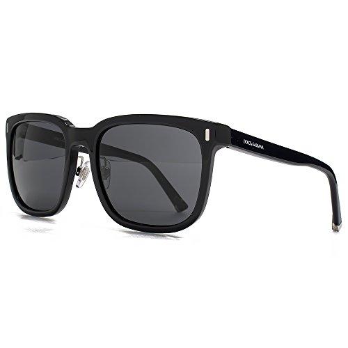 Dolce & Gabbana DNA-Square Sonnenbrille in schwarz DG4271 501/87 56 56 Grey (Dna-sonnenbrille)