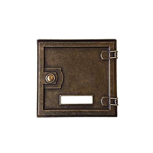 Puerta mod. 879 de latón bruñido para recogida de correo buzón empotrable