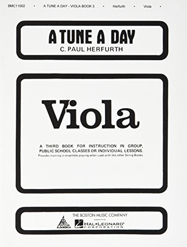 A Tune A Day For Viola Book Three por C Paul Herfurth