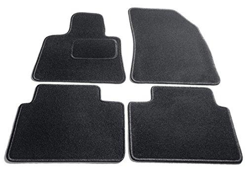 Preisvergleich Produktbild JediMats 17090 Korfu Maßgeschneiderte Fußmatte für Ihr Auto, Schwarz, Teppichfarbe Umrandung