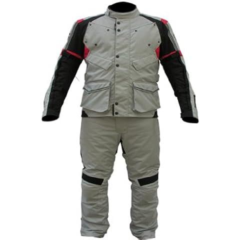 Nuovo stile moto uomo Armour in tessuto Cordura impermeabile 2pezzi Suite