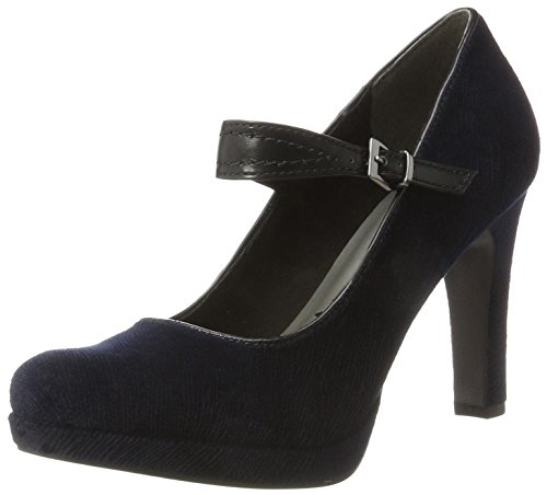 Tamaris Damen 24408 Pumps, Blau (Navy/Black), 38 EU