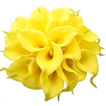 Justoyou Künstliche Blumen aus Latex, realistische Calla ...