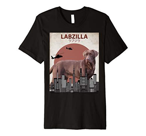 labzilla Funny Schokolade Labrador Retriever Lab Hunde-T-Shirt -