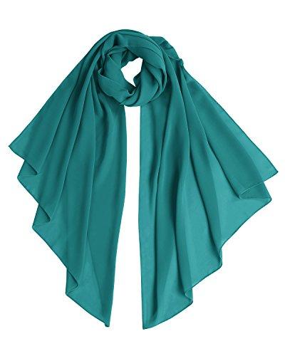 Bridesmay Chiffon Stola Schal für Hochzeit in verschiedenen Farben Dark Green M 190cm*70cm