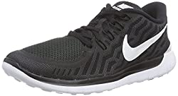 Nike Free 5.0 Damen Laufschuhe,Mehrfabig (Schwarz/Dunkles Grau/Taubengrau/Weiß 002),40.5 EU / 6.5 UK