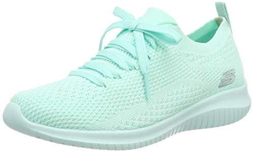 Skechers Damen Ultra Flex-Pastel Party Sneaker, Grün (Mint MNT), 39 EU