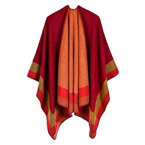HNLYYL Sciarpa Da Donna A Righe Quadrate Quadrate Imitazione Cashmere Acrilico Caldo Caldo Mantello Protezione Solare Mantello Da Viaggio Mantello Xn-10 130X150 Cm