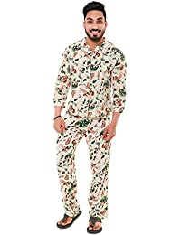 fa51e4e48 Twist Mens Viscose/Rayon Safari Print Traditional Pyjama Set Sleepwear  Nightwear