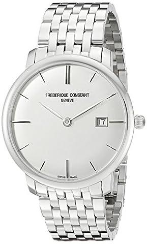 Frederique Constant Slimline Homme 40mm Bracelet Acier Inoxydable Saphire Automatique
