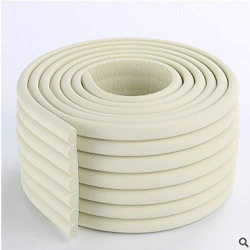 Extra Dichte Möbel Tisch Wand Kantenschutz Schaumstoff Baby Safety Bumper Guard Protector, 2 Meter (W-Typ) Weiß 2mx80mm -