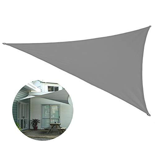 George Sonnensegel Dreieckig 3.5x3.5x3.5Wasserabweisend, Sonnensegel Aufrollbar, Balkon Sonnensegel Ohne Bohren Sonnenschutz Garten Balkon Und Terrasse PES Polyester