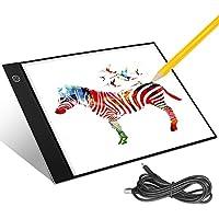 LED Tracing Light Pad Luminosité Réglable Table Tablette Lumineuse Plaque Avec Luminosité Réglable LED Pad Pour Artistes Dessin Esquisse Animation (33 * 21 * 0.3 CM)