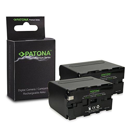 Galleria fotografica 2x Premium Batteria NP-F950 / NP-F960 / NP-F970 per Sony Camcorder Sony CCD-TR Series | CCD-TRV Series | Sony DCR-TR Series | Sony DCS-CD | Sony MVC-FD Series e più… [ Li-ion; 7800mah; 7.2V ]
