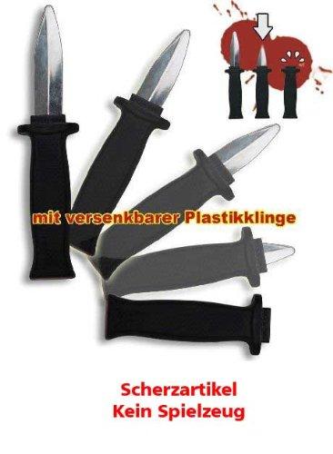 Messer Halloween Vampir Dracula versenkbare Plastikklinge ()