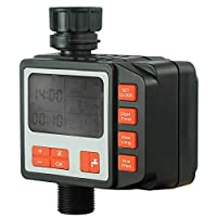 Goolsky Irrigation Water Timer Controller Garden Electronic Programmable Automatic Watering Timer Waterproof Water Faucet To Hose Timer with LCD Display Solenoid Valve for Outdoor Parterre
