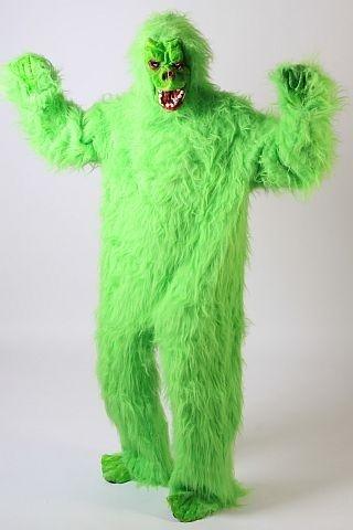 Foxxeo 10268 | Gorillakostüm grünes Kostüm Gorilla Tierkostüm Tier grün Affenkostüm King grüner Affe Affen Gorillas Kong Gr. M - L, Größe:L