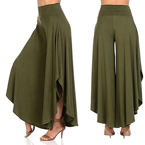 Zhhlaixing Autumn Ninth Pants Fashion Ladies pantaloni tuta da donna Irregular Comfortable Wide Leg Trousers Women Army Green