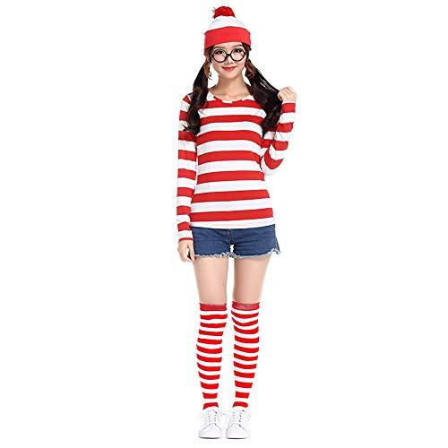 ZQ Rollenspielanzug, britischer Anime Cosplay Kostüm für (Waldo Damen Kostüm)