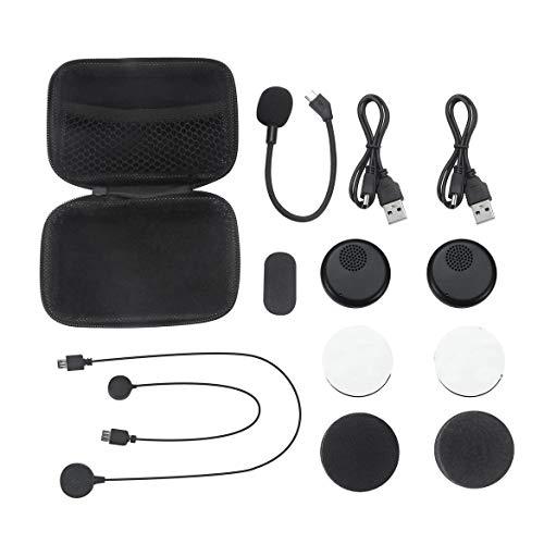 Motorrad-Sturzhelm Bluetooth Kopfhörer drahtlose Kopfhörer Dual-Stereo-Lautsprecher-Hand frei Mic-Kopfhörer für Telefon (Schwarz)