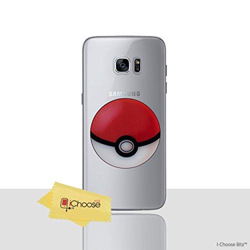 Galaxy s7 pokemon caso in silicone / pokeball copertura del gel per samsung galaxy s7 (s7/g930) protezione dello schermo e panno / ichoose