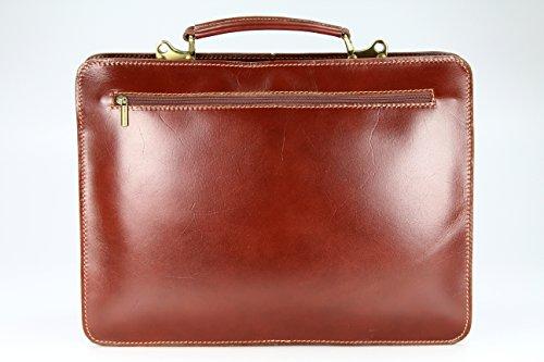 BELLI Design Bag Verona ital. Leder Businesstasche Arbeitstasche Messenger Aktentasche Lehrertasche Laptoptasche unisex - Farbauswahl - 39x29x11 cm (B x H x T) Maronenbraun