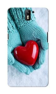 CimaCase Heart In Hand Designer 3D Printed Case Cover For OnePlus One