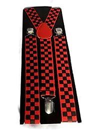 bretelles pour hommes / garçons pantalon couleur rouge & COCHER Noir
