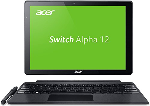 Acer Switch Alpha 12 SA5-271-30BC 30,5 cm (12 Zoll QHD Touch IPS) Convertible Laptop (Intel Core i3-6006U, 4GB RAM, 128GB SSD, Windows 10) silber