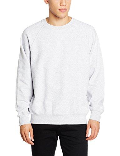 Fruit of the Loom Herren, Sweatshirt, Raglan Sweatshirt SS024M Grau (Heather Grey)