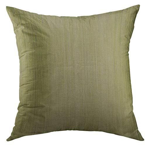 Huabuqi Housse de taie d'oreiller décoratif pour canapé-lit, décor à la Maison, Grain de Bois de Bambou Vert Mousse, taie d'oreiller 18x18 Pouces