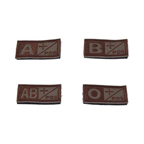 Gestickter Velcro Grupo Patch sangre a/b/AB/O + positivo