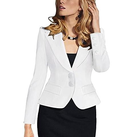 Etosell Femme Un Seul Bouton Minces Vetements De Travail Blazer Costume Veste