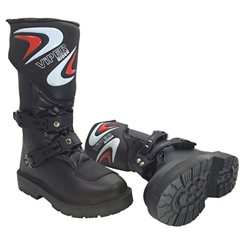 Viper Rider A123 Motorcycle K156 Kids MX Boot, Black, 36/3
