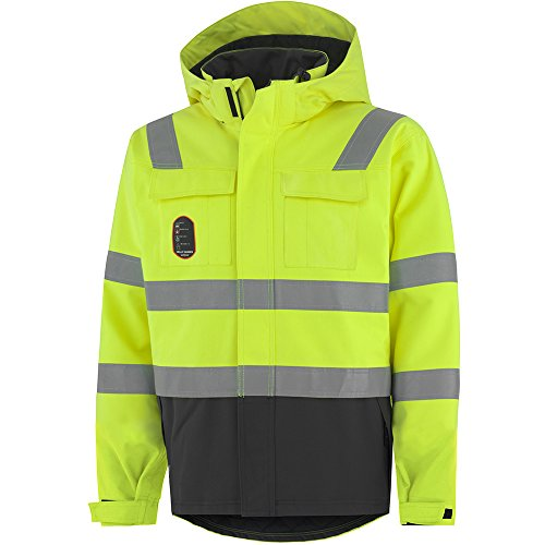Helly Hansen Workwear Multinorm Warnschutzjacke Aberdeen Isulated, Allround Arbeitsjacke, Größe L, gelb, 71385 (Feuerfeste Jacke)