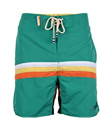 Tokyo Laundry Men Cut & Sew Contrast Detail Beach Surf Board Casual Summer Swim Swimming Shorts Style 1S3973
