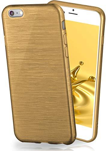 shed Aluminium-Optik & starker Grip | Ultra dünne Silikonhülle passend für iPhone 6S / iPhone 6 in Gold ()